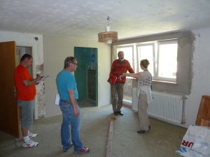 Discussions with Project Manager,  Builder and Plumber